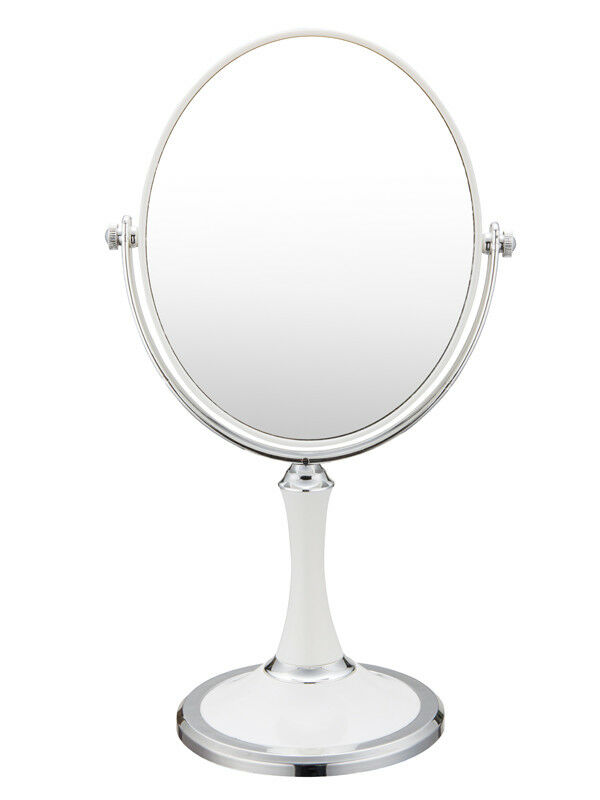 Double Sided Swivel Vanity Mirror with 3 x Magnification,Tab