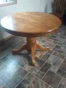 Round Solid Wood Kitchen Table.