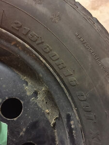 Winter Tires and universal Rims for sale Moose Jaw Regina Area image 2