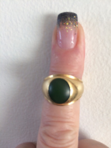 Jade Ring- 18 Karate Solid Gold