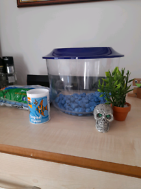 Small fish tank with accessiries