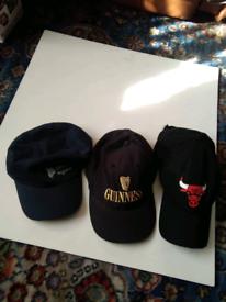 3 caps