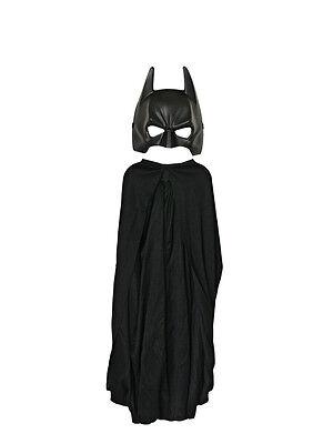 Kids Batman Cape + Mask Set The Dark Knight Rises Fancy Dress Costume BN
