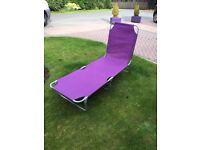 6 purple foldable sun loungers