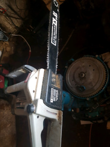 16 inch hedge trimmer and 18 inch chainsaw both electric