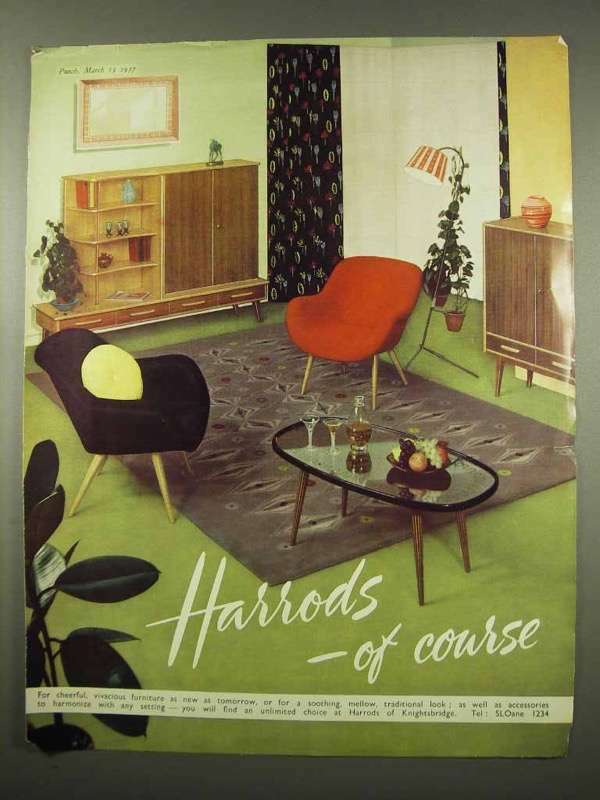 1957 Harrods Furniture Ad - Of Course!