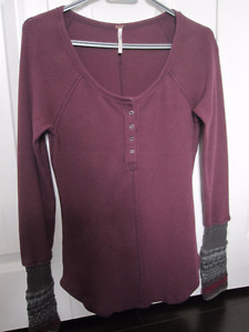 Long Sleeve Tops with Embellished Cuffs (3) - Size Medium