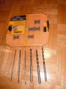 NEW DEWALT HEAVY DUTY TOUGH CASE WITH 6 SHANK TWIST DRILLS