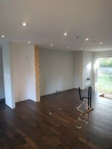Hand scraped distressed hickory solid hardwood floors 176 sq ft