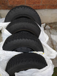Good Year Winter Tires 175 70/R14 - 4 bolt pattern *BARELY USED*