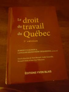 Manuel Le droit du travail du Québec