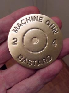 LARGE RARE 50mm PICM DEEP 0331 MACHINE GUN COIN.