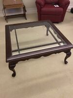 Roxton cherry, solid wood, coffee and sofa tables