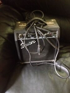 Squire guitar and amp
