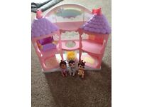Little house with 3 dolls