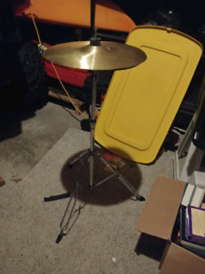 """FREE """"garbage"""" cymbal stand with hats"""
