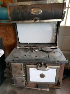 Antique wood stove oven