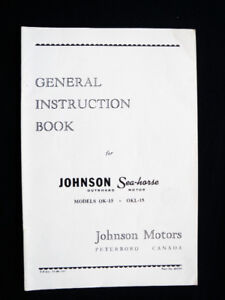 1948 Johnson 8.1hp Owners Manual