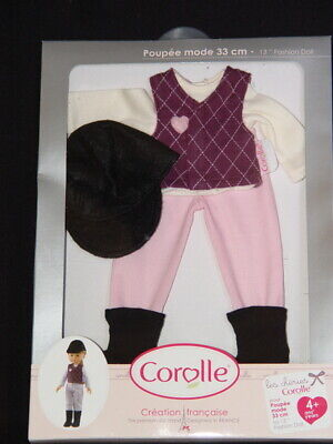 New in Package ~ Corolle Les Cheries Equestrian Outfit for 13 inch Fashion Dolls ()