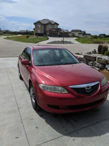 MAZDA 6 SERIES 2005 RED IN COLOUR 4 DOORS