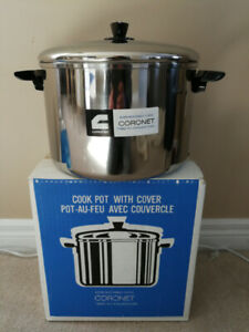 NEW in BOX Coronet 8L 3 Ply Stainless Steel Pot w Cover