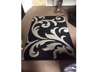 Black and Silver rug