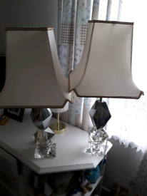 Pair Crystal lamps