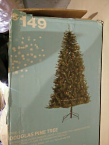 Christmas pine tree with lights - Moving SALE!