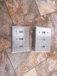 Stainless steel toggle switch covers