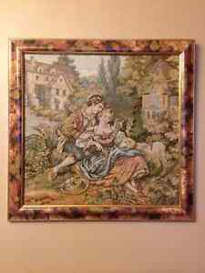Tapestry - Gentleman and Lady Sitting