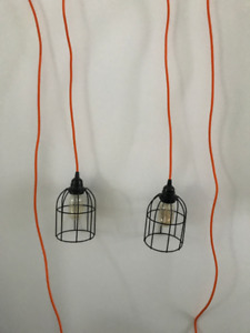 Industrial style hanging lights - $50 Or Best Offer