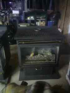2 free standing gas fire places