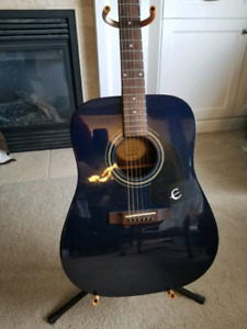 Epiphone acoustic dr-100 guitar (dark blue) -will consider trade