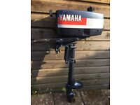 Yamaha 2hp 2 stroke outboard boat engine Good condition 10.5kg