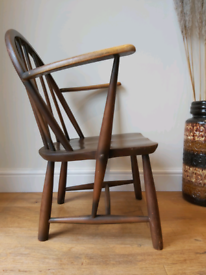 Mid century Ercol Windsor childs carver chair