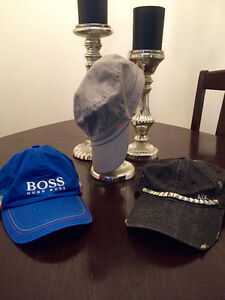 JL, Hugo boss and Armani exchange baseball hats