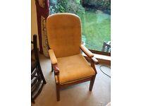 Oak & Gold Chair