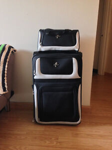 Large Suitcase & Tote Bag