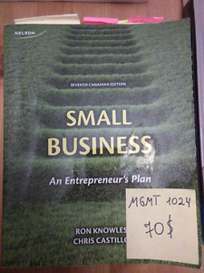 Textbook Small Business An Entrepreneur's plan, 7th canadian