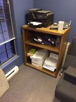 Solid wood desk and shelve unit