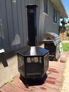 One of a kind  New exterior Fireplace