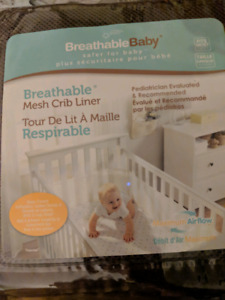 Breathable mesh crib liner/ bumper