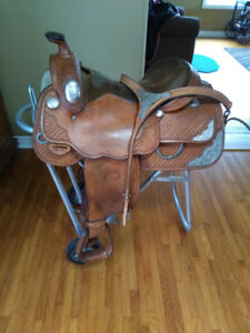 "16"" WESTERN SHOW SADDLE FOR SALE"