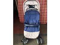 Graco push chair / stroller with cozy toes.