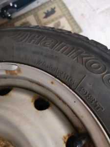 """16"""" winter tires with rims 114.3/5 pattern"""