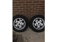 Transit custom alloys tyres set of 4 came off limited