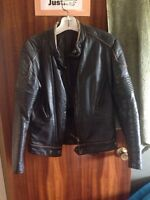 Men's and women's leather jackets