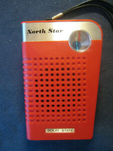 North Star (made in Hong Kong) 9v Portable Solid State Red Radio