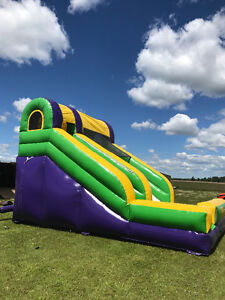 Large inflatable slide bouncy house