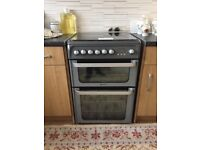Hotpoint Ultima HUG61X Gas Double Oven Cooker - LPG - 60 cm - 100 litre - Stainless Steel
